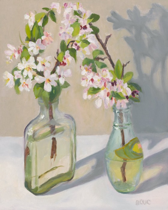 """Crab Apple Paired, Oil on Archival Panel, 10x8"""""""