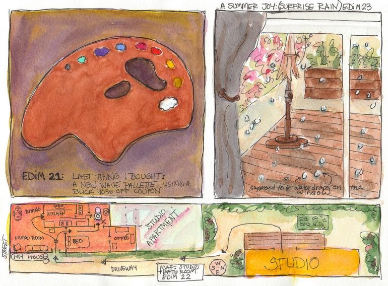 EDIM 21-22-23, Last Thing Bought, Summer Joy, Map
