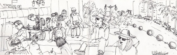 Sketchers Sketching on the Embarcadero