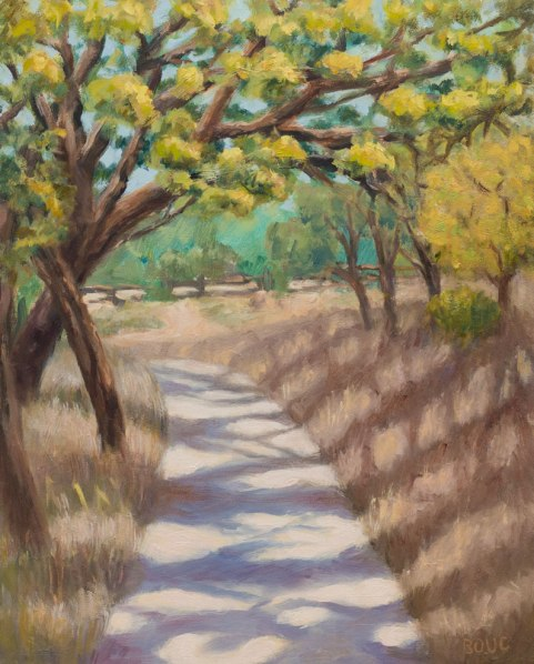 Briones Park, Sunny Afternoon, oil on panel, 10x8""