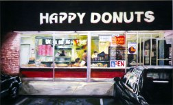 Happy Donuts, watercolor painting (sold)