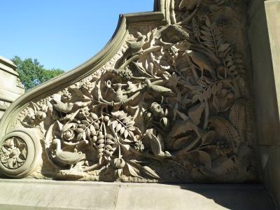Wall carvings near Bethesda Fountain
