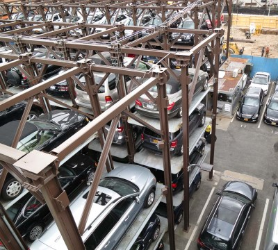 4-story elevated stacking car parking