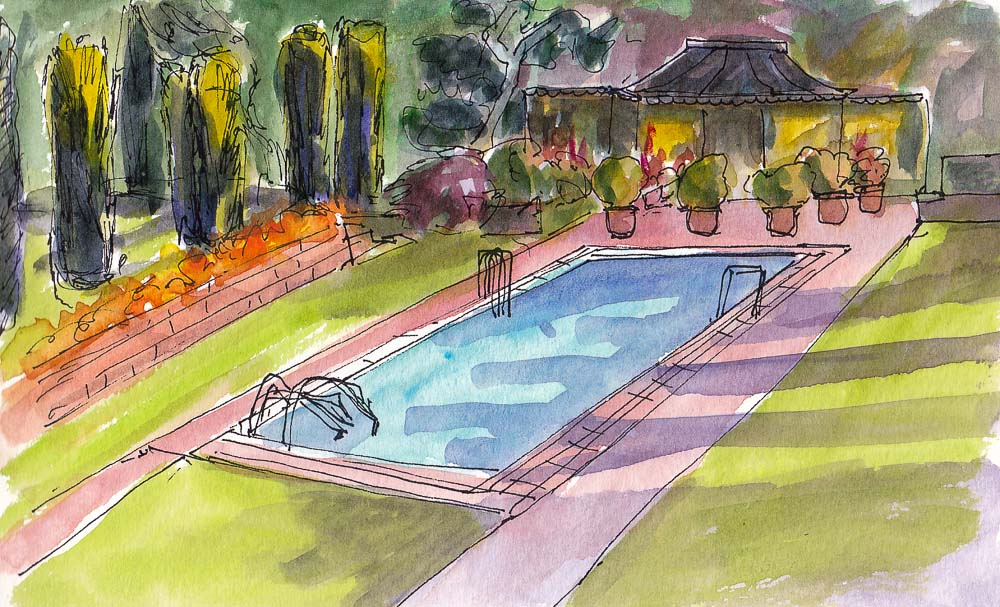 November 2013 jana bouc artist for Filoli garden pool
