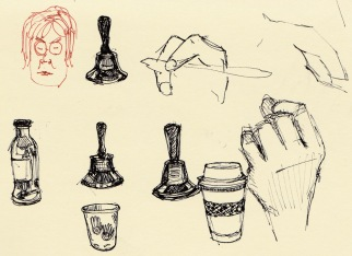 Meeting Stuff, sketches in pocket Moleskine