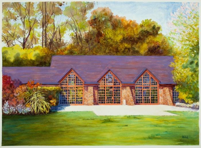 Brazillian Room, Tilden Park, Watercolor, 22 x 30 in
