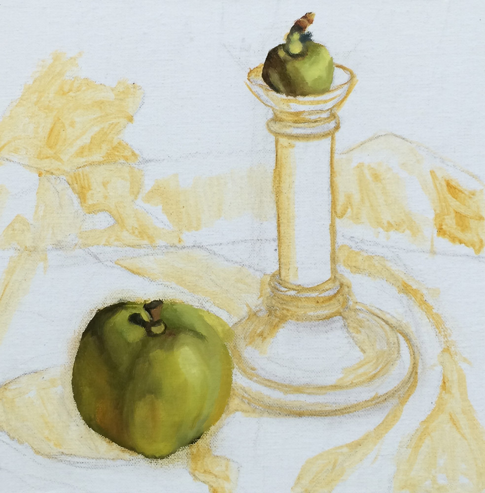 Candlestick and Apples, WIP