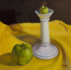 Candlestick and apples, WIP, semi-final