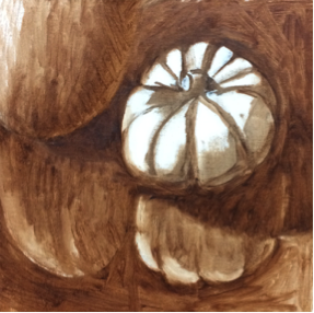 Session 1A: Drawing and block in in burnt umber