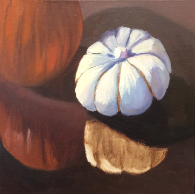 Session 2: Painted all but gourd reflection