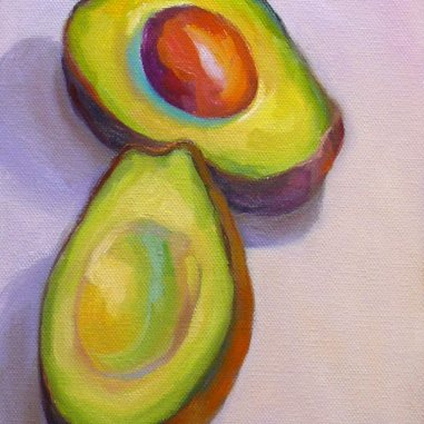 Avocado in Bright Light