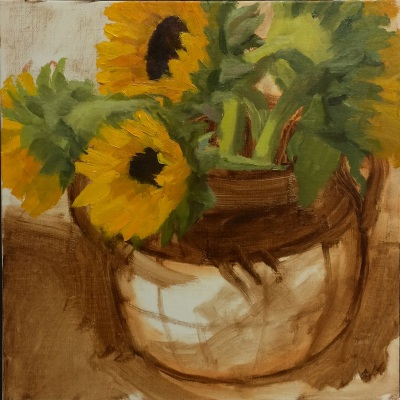 Session 2: Paint sunflowers since they will change