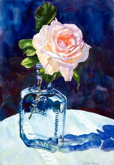 Michelle's Rose, Watercolor (SOLD)