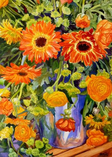 Sunny-Serenade, Watercolor