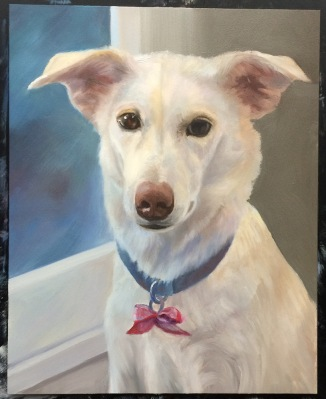 Millie-More work on background, fading out the darks on the right