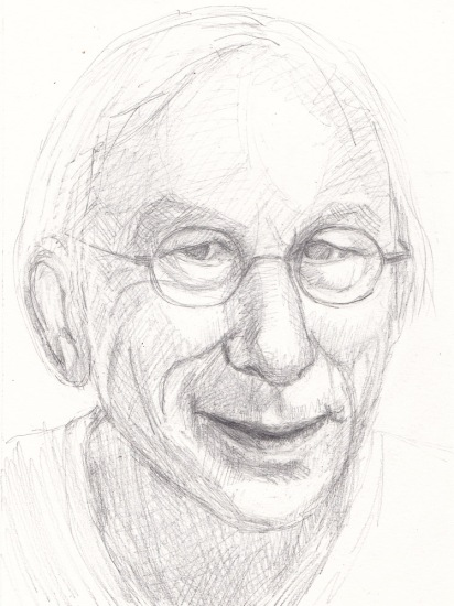 Sketch of Jan Jaap for Julia Kaye's Portrait Party, graphite, 9x6.5""