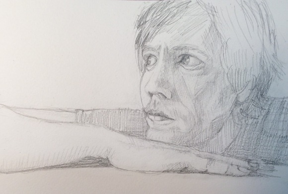 Portrait sketch, Stuart, pencil