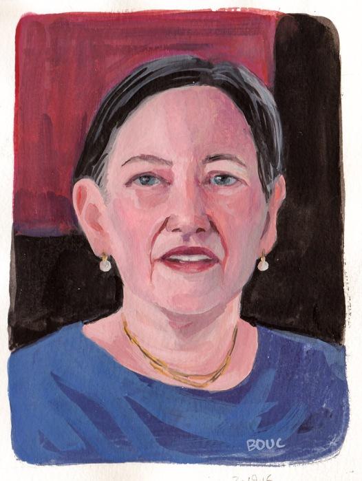 JKPP Gouche sketch of Kathleen, 7.5x5.5 inches