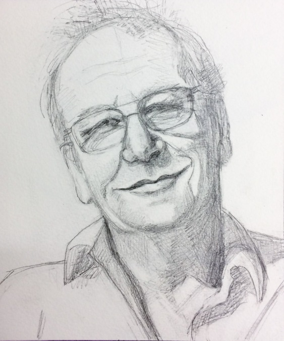 Richard for JKPP, Graphite, 7.5x6 inches