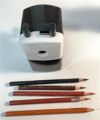 Large diameter pencil sharpener (sharpens large and normal diameter pencils)