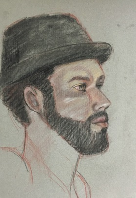 Hat Guy, Conte on Paper