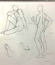 Brian, two 5 minute poses, pencil