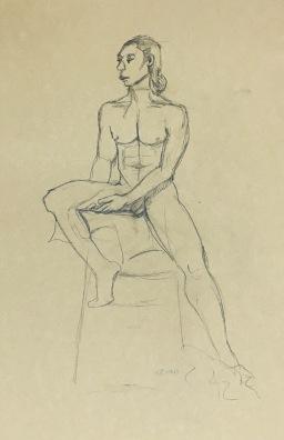 Brian, 10 minute pose, pencil