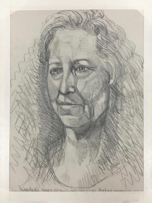 #14, drawing for #15, graphite on Vidalon, 12x9