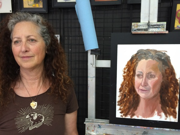 Attempt #1: painted live in about 2.5 hours. I learned how much I didn't know about alla prima portraiture.