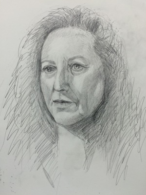 #3 Drawing, graphite on paper, 14x11