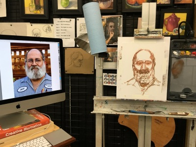 JR #3-A, Portrait start with reference photo