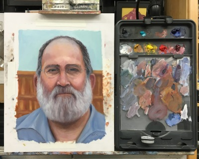 JR #3-F WIP, Oil on DuraLar, 12x9 inches