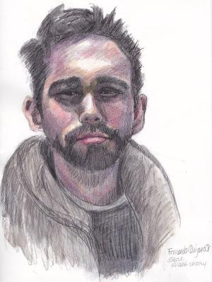 Fernando Quijano, Jr., Colored pencil & Graphite, attempt #1