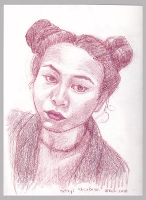 Khyla Duran, colored pencil