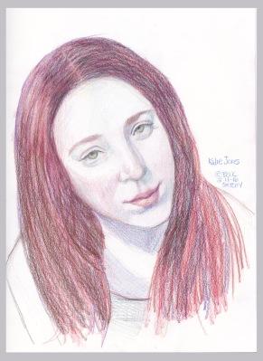 Kalie Jones, colored pencil