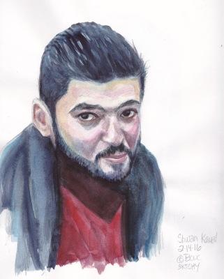 Shwan Kamal, photo ref, watercolor