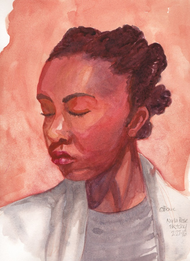 Nyla Rose, Watercolor