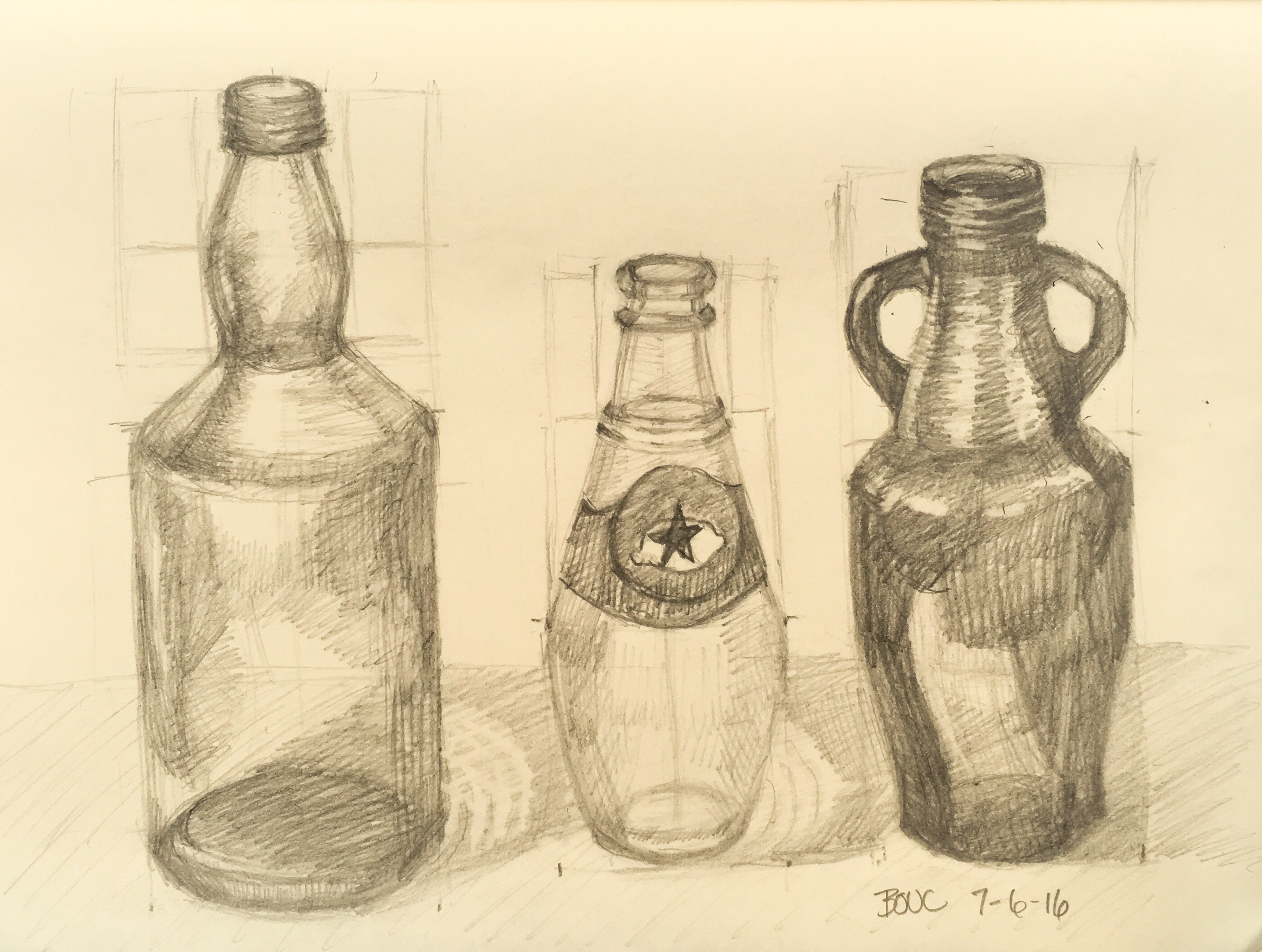How To Draw Bottles That Are Symmetrical Jana Bouc Artist