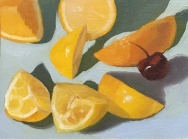 Lemon still life #3, 5.5x7x5 inches on Arches Oil Paper
