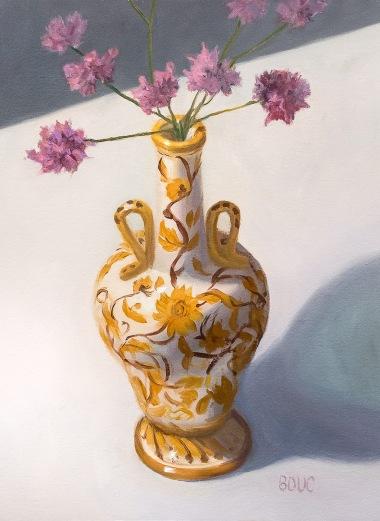Mom's Perugia Italian Vase, Oil on Arches Oil Paper, 12x9 inches