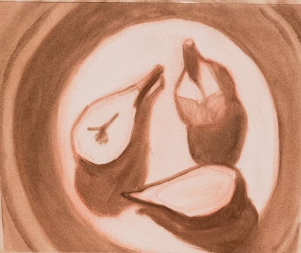 Monochrome underpainting with burnt umber