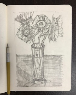Sunflowers 1-B Sketch