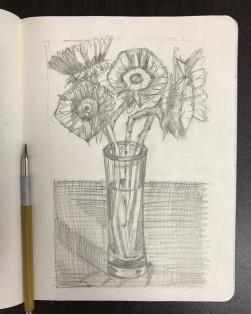 Sunflowers 1-B Sketch