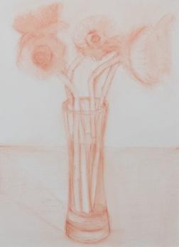 Sunflowers 1-B pastel sketch on canvas