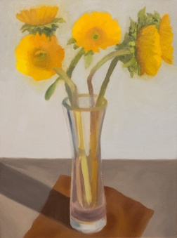 Sunflower Attempt 2, Oil on Arches Oil Paper
