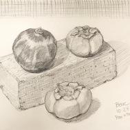 """Preliminary sketch, Graphite in Moleskine, 8x10"""""""