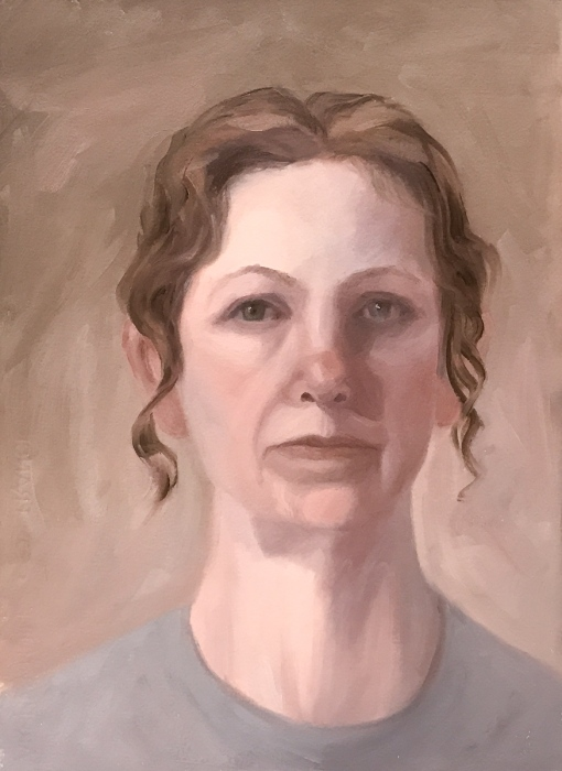 "2017010-Self-Portrait_#6, oil on Arches Oil Paper, 15x11"""