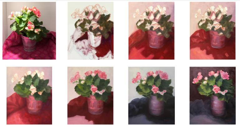"FAIL: Bad Begonias, oil on panel, 10x8"""