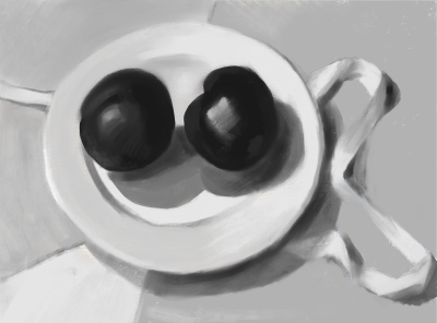 Value study for Plums