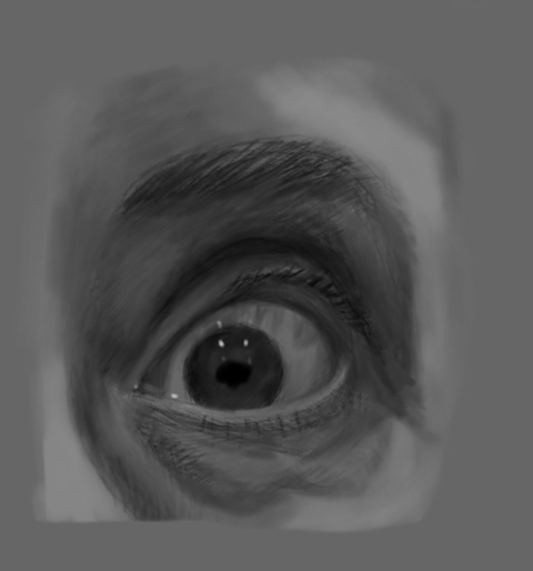 Eye, sketched in Procreate on the iPad
